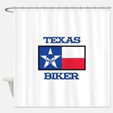 Texas Biker Shower Curtain