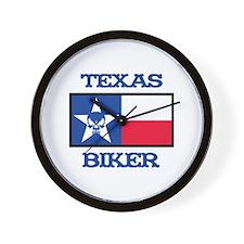 Texas Biker Wall Clock