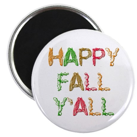 "Happy Fall Y'all 2.25"" Magnet (10 pack)"