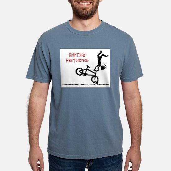 Ash Grey T-Shirt with Mountain Bike logo T-Shirt
