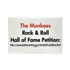 Monkees Rock & Roll Hall of Fame Rectangle Magnet