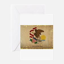 Illinois State Flag VINTAGE Greeting Cards