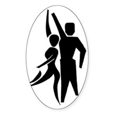 Latin Dancers Oval Decal