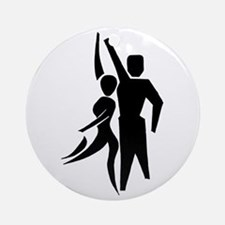 Latin Dancers Ornament (Round)
