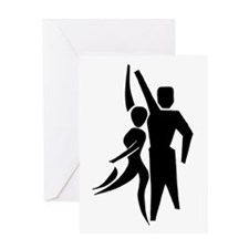 Latin Dancers Greeting Card