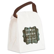 BLAME IT ON MY... Canvas Lunch Bag