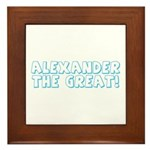 Alexander the Great Framed Tile