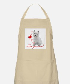 Love You More! Westie Apron