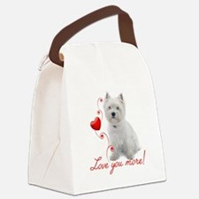 Love You More! Westie Canvas Lunch Bag