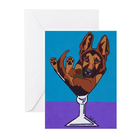 German Shepherd, Black & Tan Greeting Cards (Pk of