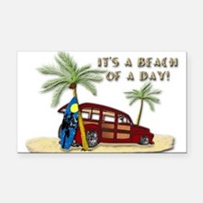 It's A Beach Of A Day! Rectangle Car Magnet