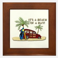 It's A Beach Of A Day! Framed Tile