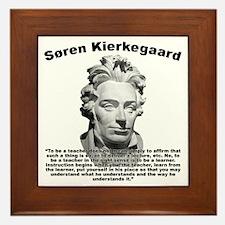 Kierkegaard Teacher Framed Tile