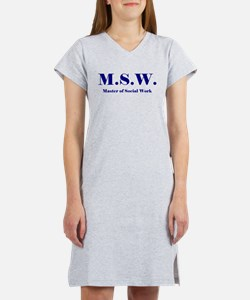 Cute Fried social worker Women's Nightshirt