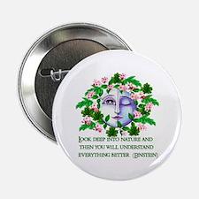 Pagan Spring Goddess Button