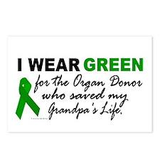 I Wear Green 2 (Saved My Grandpa's Life) Postcards