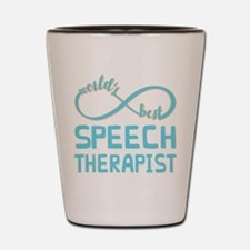 Worlds Best Speech Therapist Shot Glass