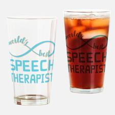 Worlds Best Speech Therapist Drinking Glass