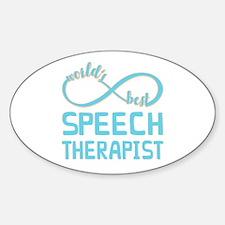 Worlds Best Speech Therapist Sticker (Oval)