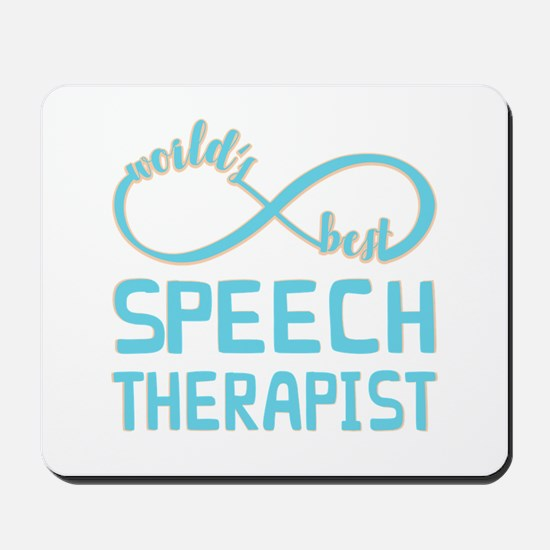 Worlds Best Speech Therapist Mousepad
