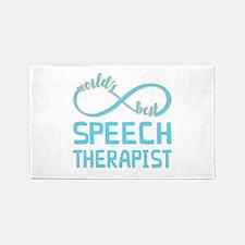 Worlds Best Speech Therapist Area Rug