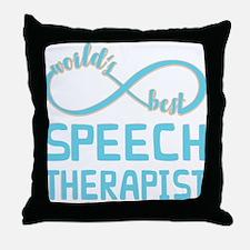 Worlds Best Speech Therapist Throw Pillow