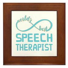 Worlds Best Speech Therapist Framed Tile
