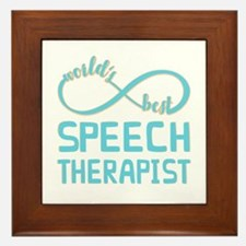 Worlds Best Speech Therapist Framed Tile