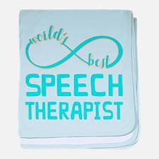 Worlds Best Speech Therapist baby blanket