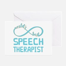 Worlds Best Speech Therapist Greeting Card