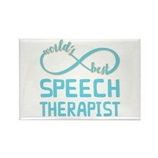 Worlds Best Speech Therapist Rectangle Magnet