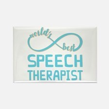 Worlds Best Speech Therapist Rectangle Magnet