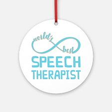 Worlds Best Speech Therapist Round Ornament