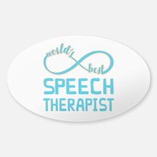Worlds Best Speech Therapist Decal