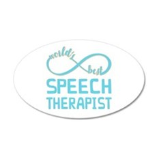 Worlds Best Speech Therapist Wall Decal
