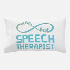 Worlds Best Speech Therapist Pillow Case