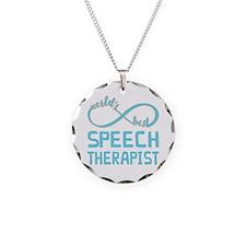 Worlds Best Speech Therapist Necklace