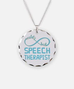 Worlds Best Speech Therapist Necklace
