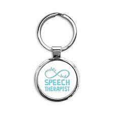 Worlds Best Speech Therapist Round Keychain