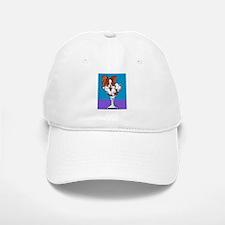Papillon, White & Red Baseball Baseball Cap