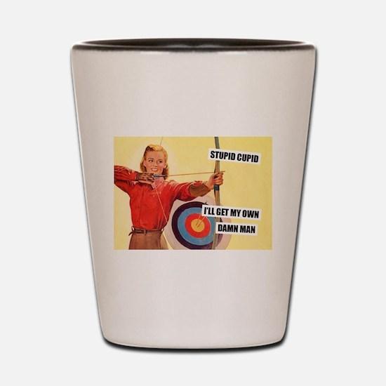 Stupid Cupid Shot Glass