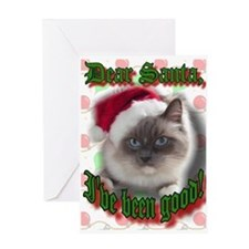 Cute Ragdoll cat christmas Greeting Card