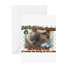 Funny Ragdoll cat christmas Greeting Card