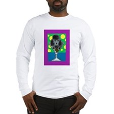 Black Poodle Martini 2 Long Sleeve T-Shirt
