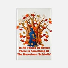Autumn Pagan Goddess Rectangle Magnet