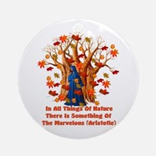 Autumn Pagan Goddess Ornament (Round)