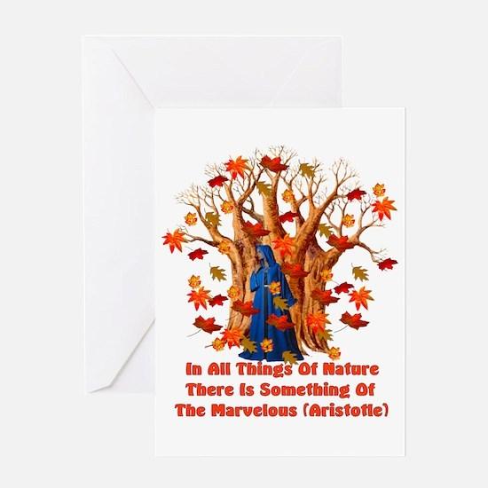 Autumn Pagan Goddess Greeting Card