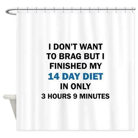 don 39 t want to brag shower curtain by teeteetwister