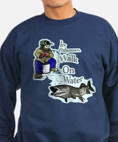 Ice fishing muskie Sweatshirt