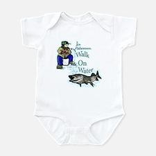 Ice fishing muskie Infant Bodysuit
